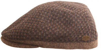 Flat cap - MJM Daffy Wool (ruskea check)