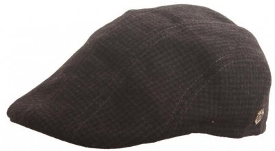 Flat cap - MJM Maddy EL Wool Mix (musta pattern)