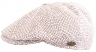 Flat cap - MJM Rebel Wool/Lin/Silk (beige)
