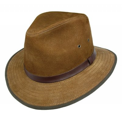 Hatut - Nubuck Leather Safari Fedora (kastanja)