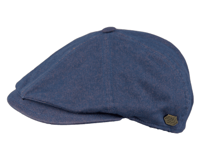 Flat cap - MJM Rebel Cotton (sininen)