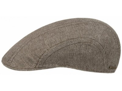 Flat cap - Stetson Madison Cotton/Linen (ruskea)