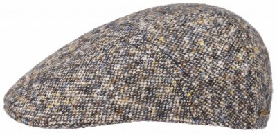 Flat cap - Stetson Ivy Cap Donegal Tweed (sininen mix)