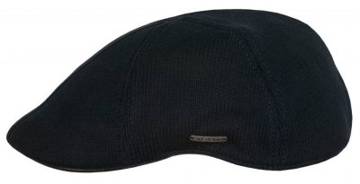 Flat cap - Stetson Texas Cotton Knit (musta)